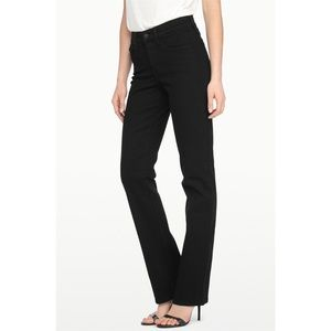 NYDJ Black Marilyn Straight Leg Jeans | Size 6